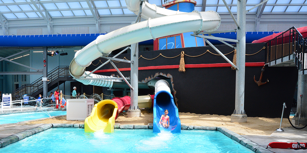 Water Park Slides at the Cape Codder Water Park
