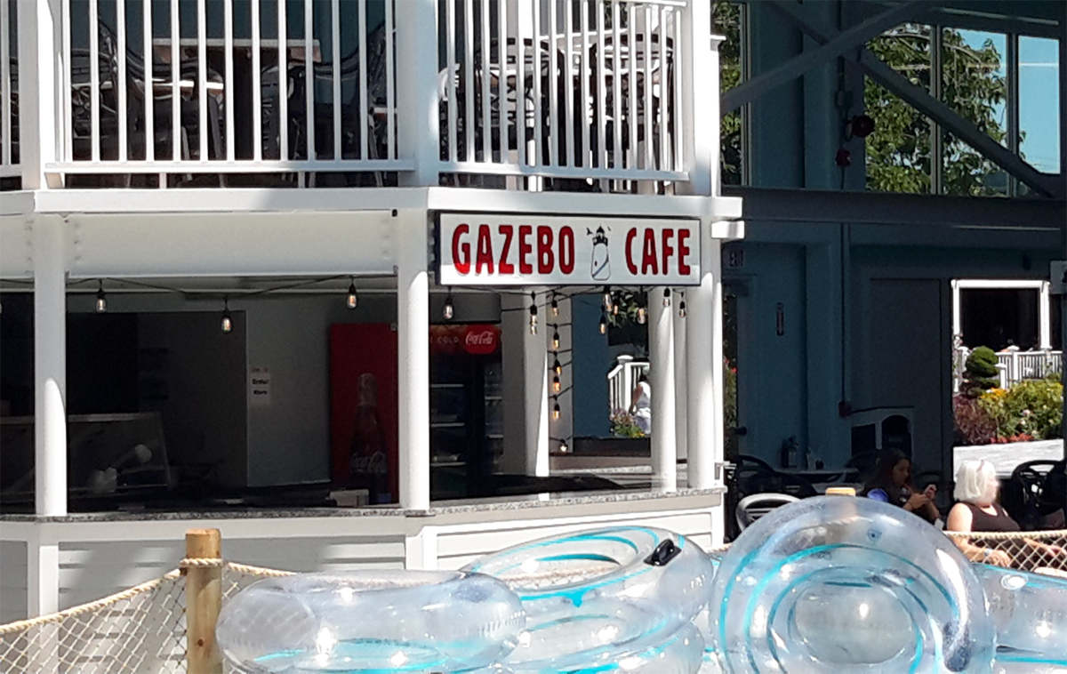 Gazebo Cafe at the Cape Cod Water Park