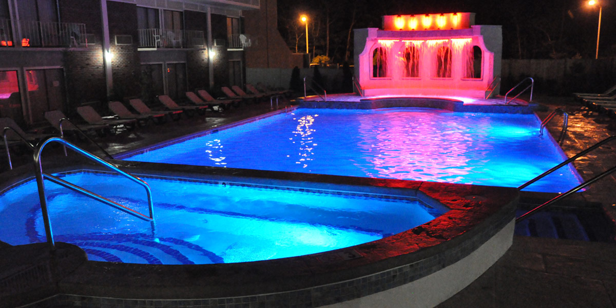 Heated outdoor pool open all year