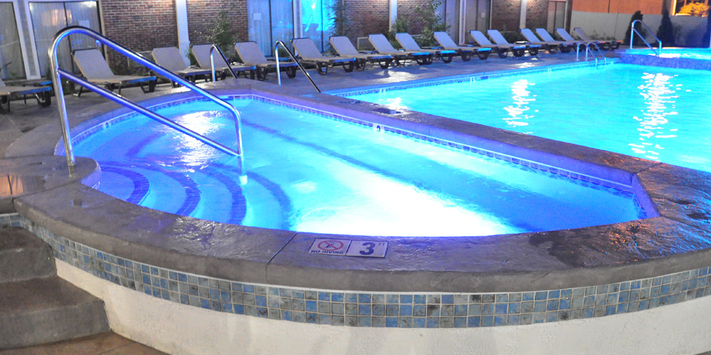 Heated outdoor pool at the Cape Codder in Hyannis